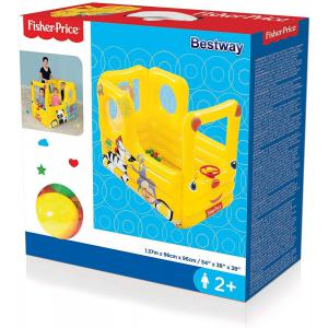 Autobus Inflable Fisher Price 137x96 Cm Bestway 93506