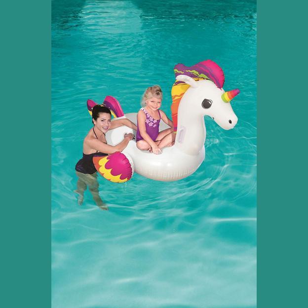 Colchoneta Unicornio Inflable Flotador Pileta Bestway 41114